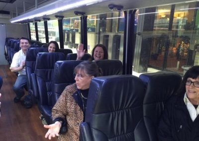 The NAPSA Steering Committee leaves Chicago to visit Peaceable Primate Sanctuary in Winamac, Indiana