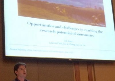 "Steve Ross of Lincoln Park Zoo presents ""Opportunities and Challenges in"