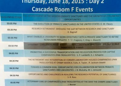 Our symposium's schedule
