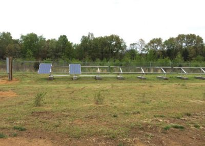 Solar panels were under assembly at Peaceable Primate Sanctuary