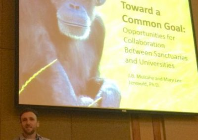 "JB Mulcahy of Chimpanzee Sanctuary Northwest presenting ""Toward a Common Goal"""