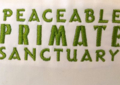 Beautiful Peaceable Primates Sanctuary shirts