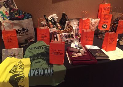Just a sampling of auction items