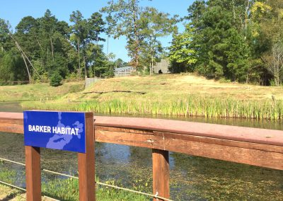 The Bob Barker Habitat is one of many habitats toured at Chimp Haven.