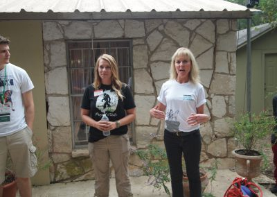 Priscilla Feral and Brooke Chavez lead a tour at Primarily Primates