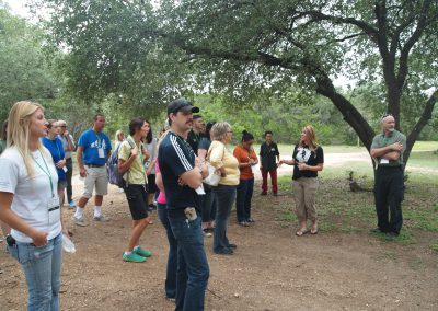 Brooke Chavez answering questions during the tour of Primarily Primates