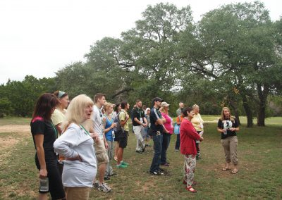 Brooke Chavez leads a tour of Primarily Primates