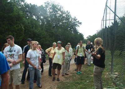 Brooke Chavez leads a tour at Primarily Primates