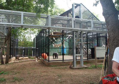 A chimp enclosure at Primarily Primates