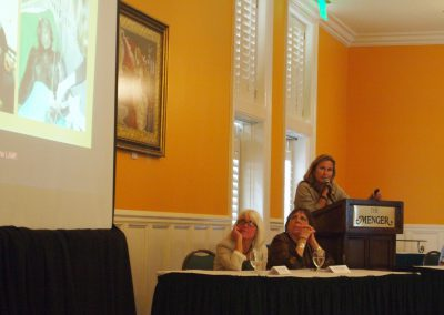 Dr. Jocelyn Bezner of Save The Chimps presented on veterinary care of special needs residents