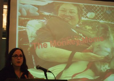 Nicole Paquette of the Humane Society of the United States presents about pet primates.
