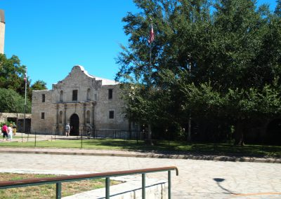 We were right next to the famous Alamo!