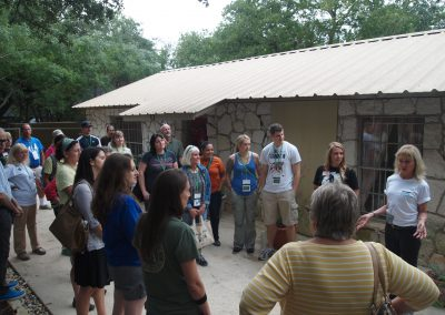 Priscilla Feral and Brooke Chavez lead a tour of Primarily Primates