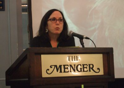 Nicole Paquette of the Humane Society of the United States spoke on laws governing primates