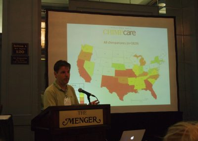 Steve Ross of Lincoln Park Zoo spoke about chimpanzees and their locations throughout the U.S.