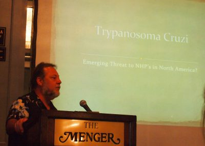 Tim Ajax spoke about medical issues inherent in primate care
