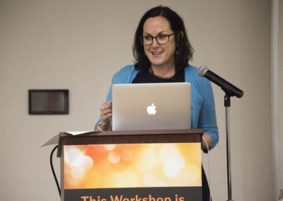 "Nicole Paquette presents during ""Current State of Primates in the Pet Trade"""