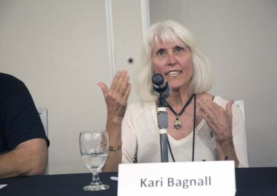 "Kari Bagnall answers questions during ""Enclosure Design and Socialization"""