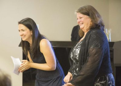Erika Fleury awarded April Truitt with a Lifetime Achievement Award at the Recognition Dinner