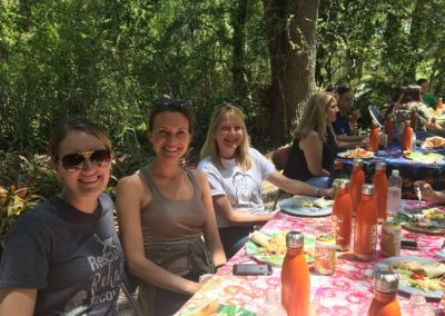 Dining al fresco at the Center for Great Apes tour