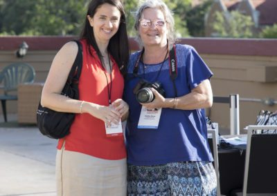 Erika Fleury and photographer Debbie Muga at the Drinks Reception