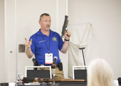 Ken Holmes demonstrates safe capture tools