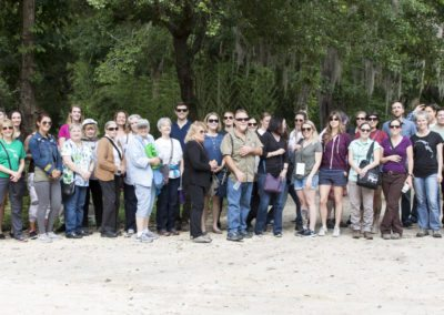 The lucky Workshop attendees touring Jungle Friends Primate Sanctuary