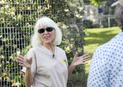 Kari Bagnall educates the group touring Jungle Friends Primate Sanctuary
