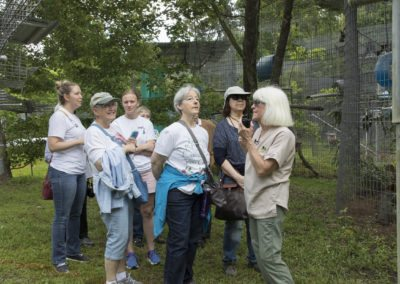 Kari Bagnall leads a tour of Jungle Friends Primate Sanctuary