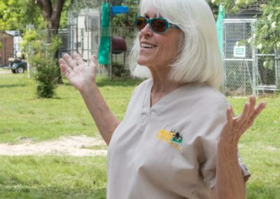 Kari Bagnall leads a tour at Jungle Friends Primate Sanctuary