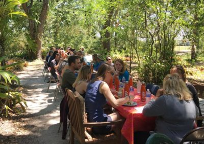 Lunch at Center for Great Apes during the NAPSA tour