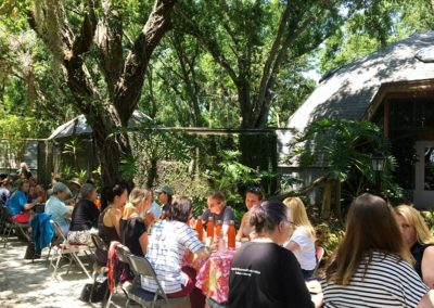 A beautiful setting for lunch at Center for Great Apes during the NAPSA Workshop