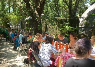 Outdoor lunch at Center for Great Apes during the NAPSA Workshop