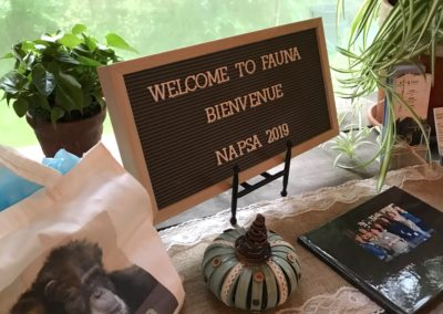 A beautiful welcome awaited the NAPSA Steering Committee at Fauna Foundation's meeting space.